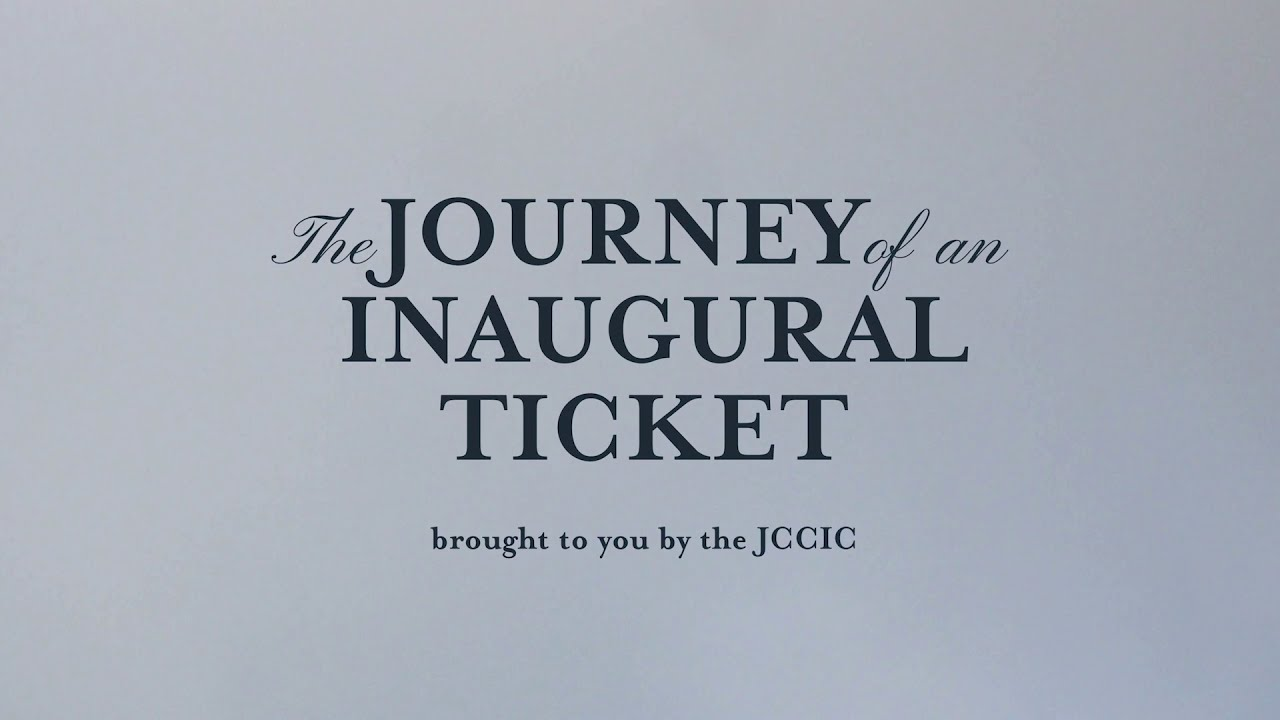 The Journey of a 59th Inaugural Ticket