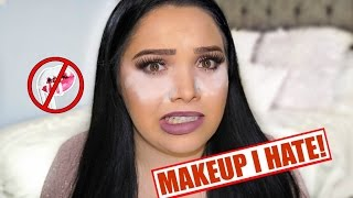 FULL FACE USING MAKEUP I HATE!