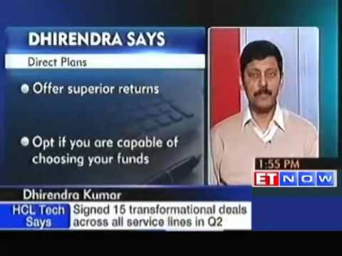 Dhirendra Kumar on investing via direct plans