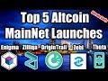 Top 5 Altcoin Upcoming MainNet Launches Q4 2018 [Enigma, Zilliqa, OriginTrail, Zebi, Theta Token]