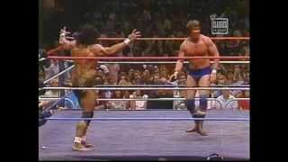 Jimmy `Superfly` Snuka takes on Roddy Piper from the N.J Meadowland...