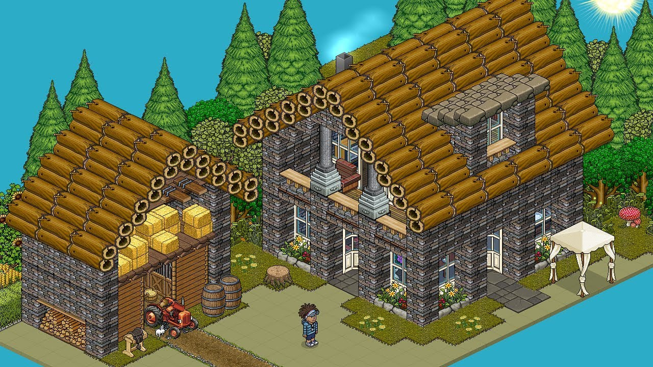 How To Build A Habbo Country House Youtube