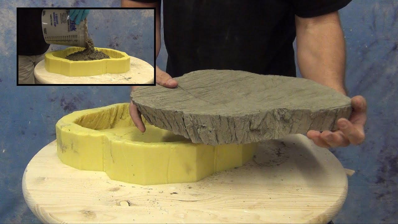 Decorative Concrete Mold: Paver Mold From Tree Trunk