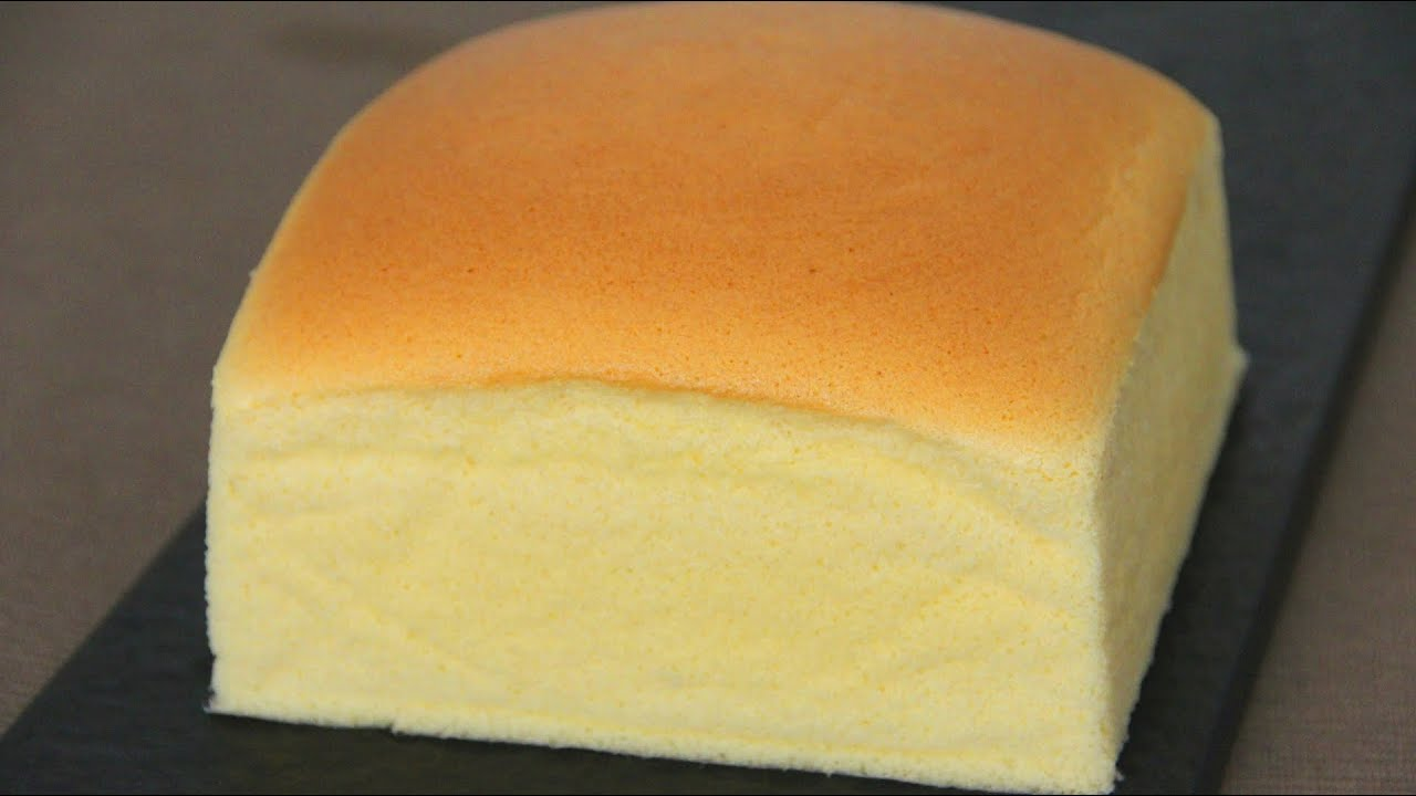 Japanese Sponge Cake Recipe Youtube: Japanese Cotton Sponge Cake 日式海绵蛋糕