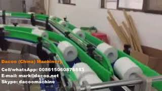 Toilet Paper Rolls Production Line ( 1 rewinder + 2 band saw cutters)