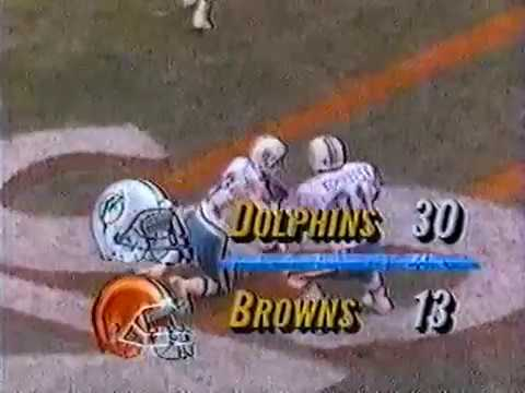 1990 Wk 12 Miami at Cleveland Highlights