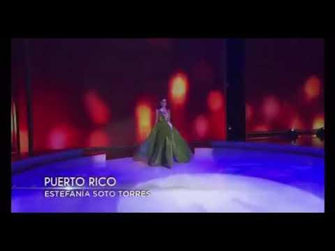 Miss Puerto Rico 2020: Estefanía Soto Evening Gown. Traje de Noche Preliminar