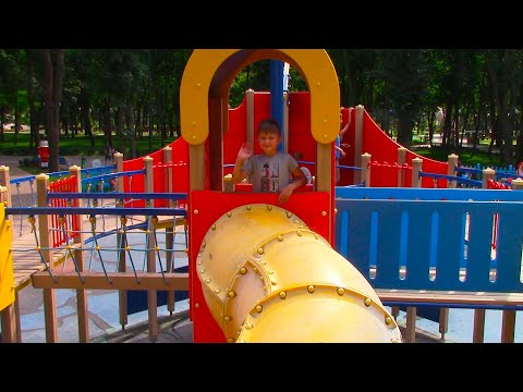 Thumbnail: Outdoor Playground Play Area with Family Fun ABC Song | Baby Nursery Rhymes Songs