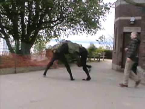 BigDog Beta (early Big Dog quadruped robot testing)