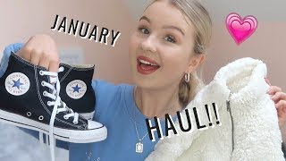 LIL JANUARY CLOTHING HAUL! (+ try on) | hollister, bershka, converse & more!