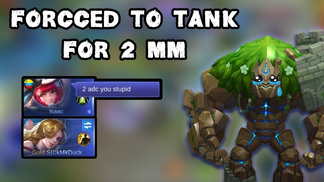 When I Am Forced To Tank For 2 MM, But Ended Up Playing Like A Carry