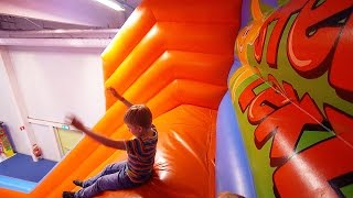 Fun Jump Slide at Stella's Indoor Playground for Kids