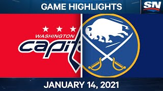 NHL Game Highlights | Capitals vs. Sabres - Jan. 14, 2021