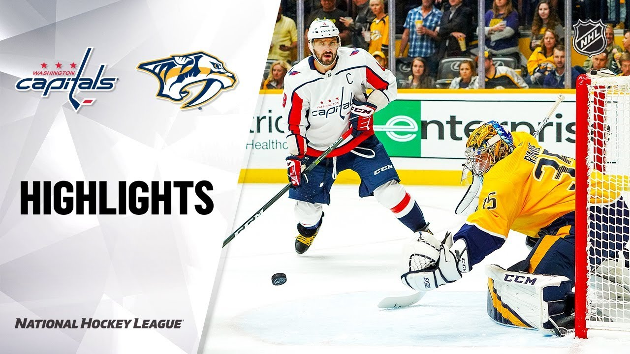 Nhl Highlights Capitals Predators 10 10 19 Youtube