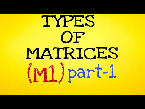 B.TECH 1ST YEAR  M1  MATRICES PART-1 INTRODUCTION LEARN