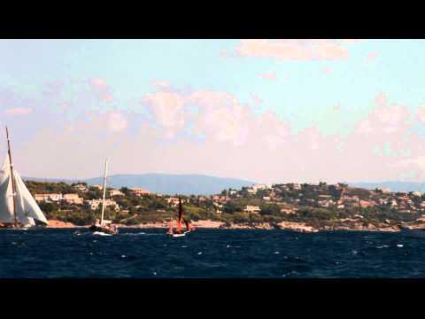 Greek tratitional boat - latin sail