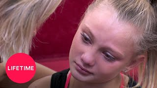 dance moms maesis nerves make her sick season 7 flashback lifetime