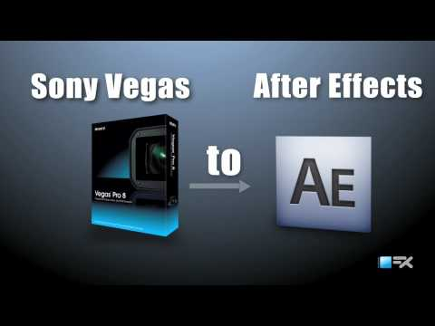 Sony Vegas project imported in to After Effects | After Effects Templates | www.BlueFx.net