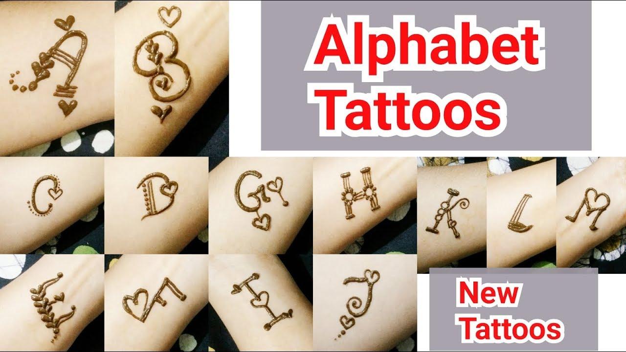 l alphabet mehndi design