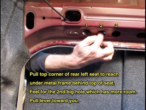 How to open a stuck trunk