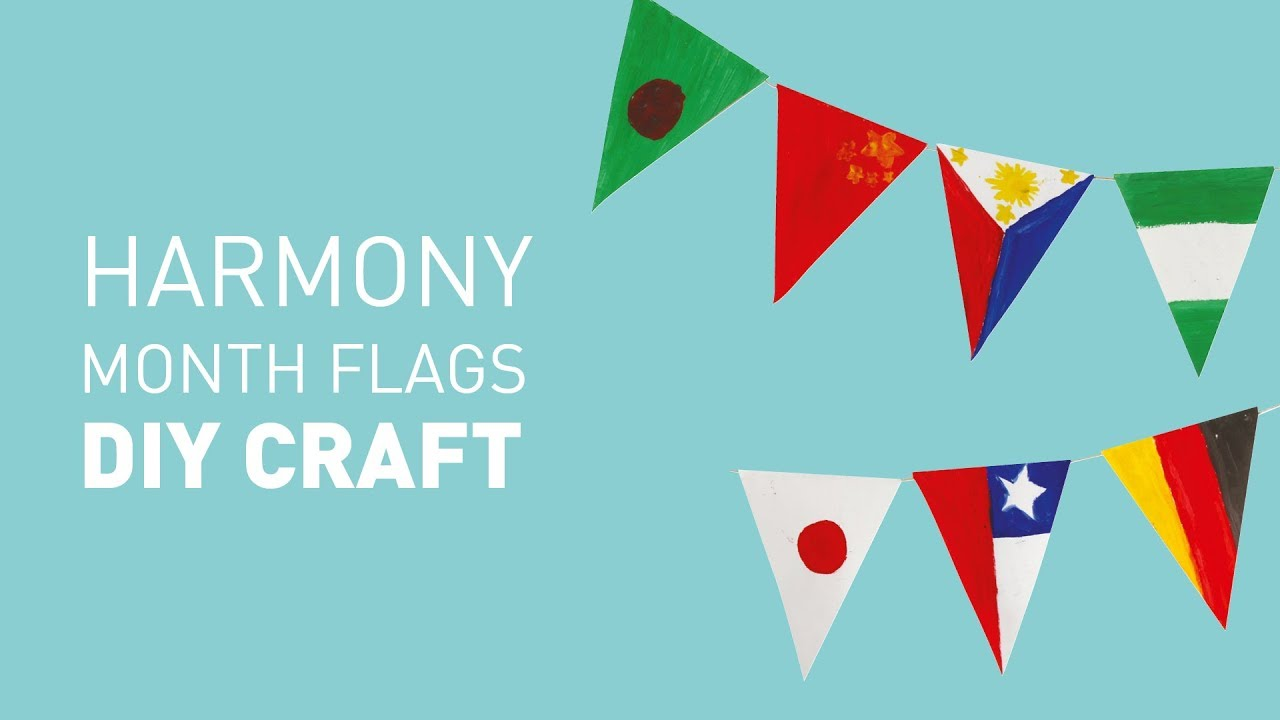 harmony month bunting flag craft educational experience youtube