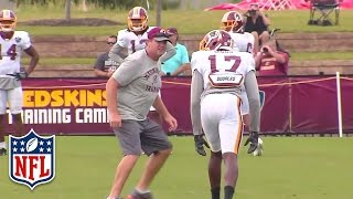 Jay Gruden Plays Cornerback at Redskins Training Camp | NFL