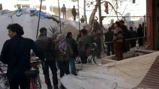 وكالة قاسيون  مشاهد أولية للقصف الذي استهدف مدينة زملكا بريف دمشق 6-12-2015