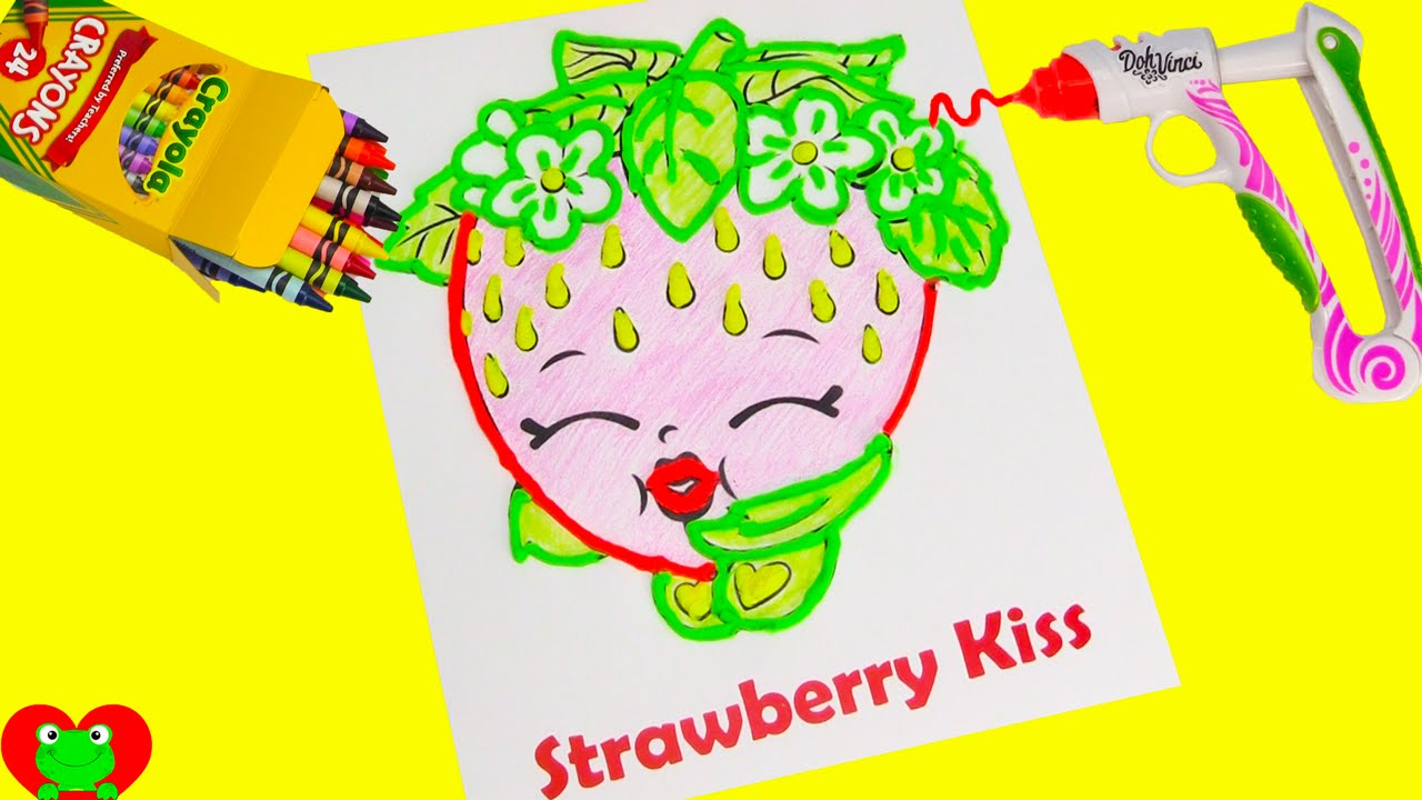Shopkins strawberry kiss with dohvinci youtube for Strawberry kiss shopkins coloring page