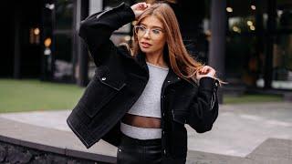 Видео-обзор: серый лонгслив, юбка из экокожи и черная куртка