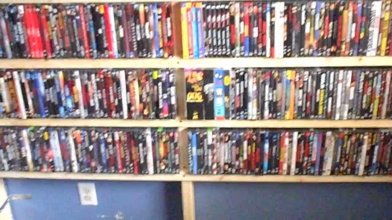 home made dvd shelving unit and a shout out youtube