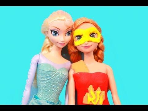 PLAY-DOH Elsa makes Anna a Fire Super Hero Costume Disney Frozen