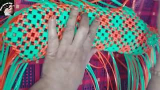 Diy/2 ரோல் வயர், மார்க்கெட் கூடை பின்னுவது எப்படி/biscuit knot with normal knot. wirekoodai.part 1