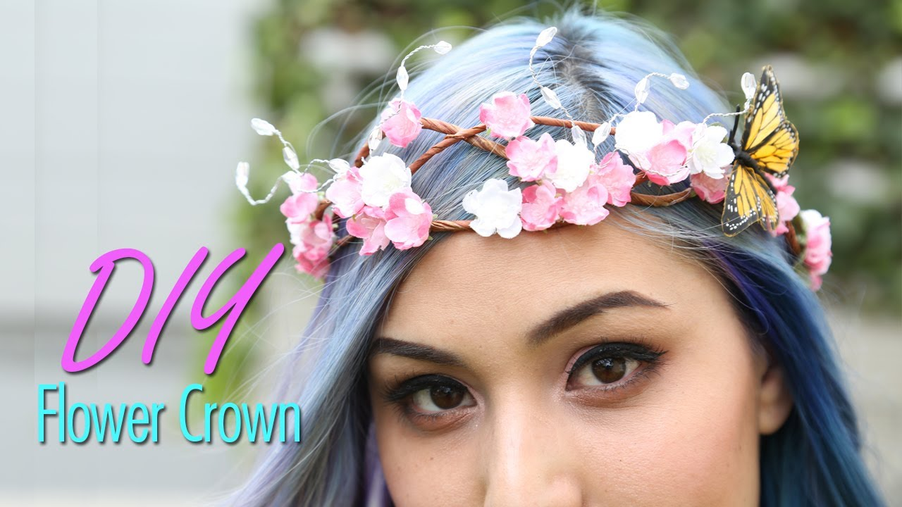 Diy flower crown youtube diy flower crown izmirmasajfo