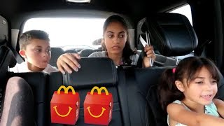 McDonalds Drive Thru Prank! Power Wheels Ride On Car for Kids