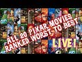 ALL Pixar Movies Ranked Worst to Best (with Incredibles 2) LIVE!