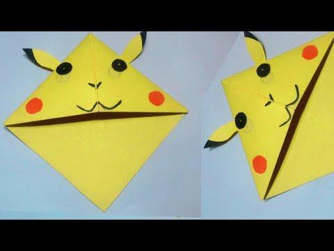 Easy Pikachu diy Bookmark Corners Paper Crafts || Tanjina art and craft