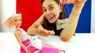 Делаем сумочку для Барби в театр - Видео для девочек