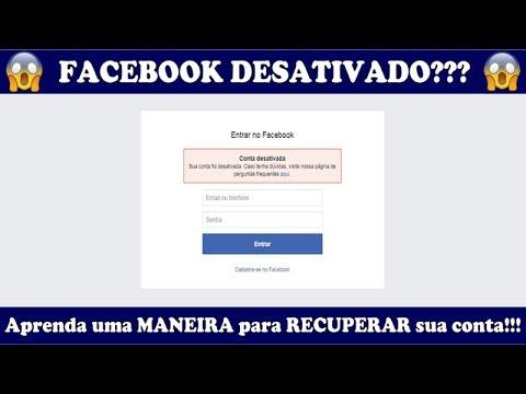 Facebook Desativado?! Aprenda agora como reativar sua conta!!!