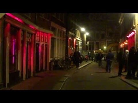 Amsterdam S Red Light District Bloedstraat Night Time