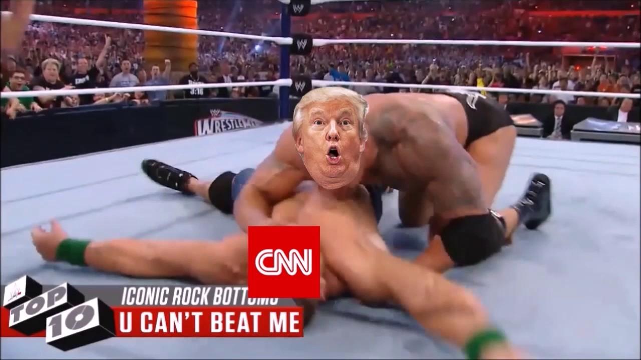 Donald Trump Rockbottoms Cnn Wwe Meme