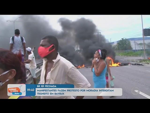 Moradores realizam protesto e interditam BR 230  - Tambaú da Gente Noite