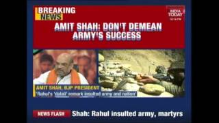 Amit Shah Reacts To Rahul Gandhi's 'Khoon Ki Dalali' Remark On PM Modi