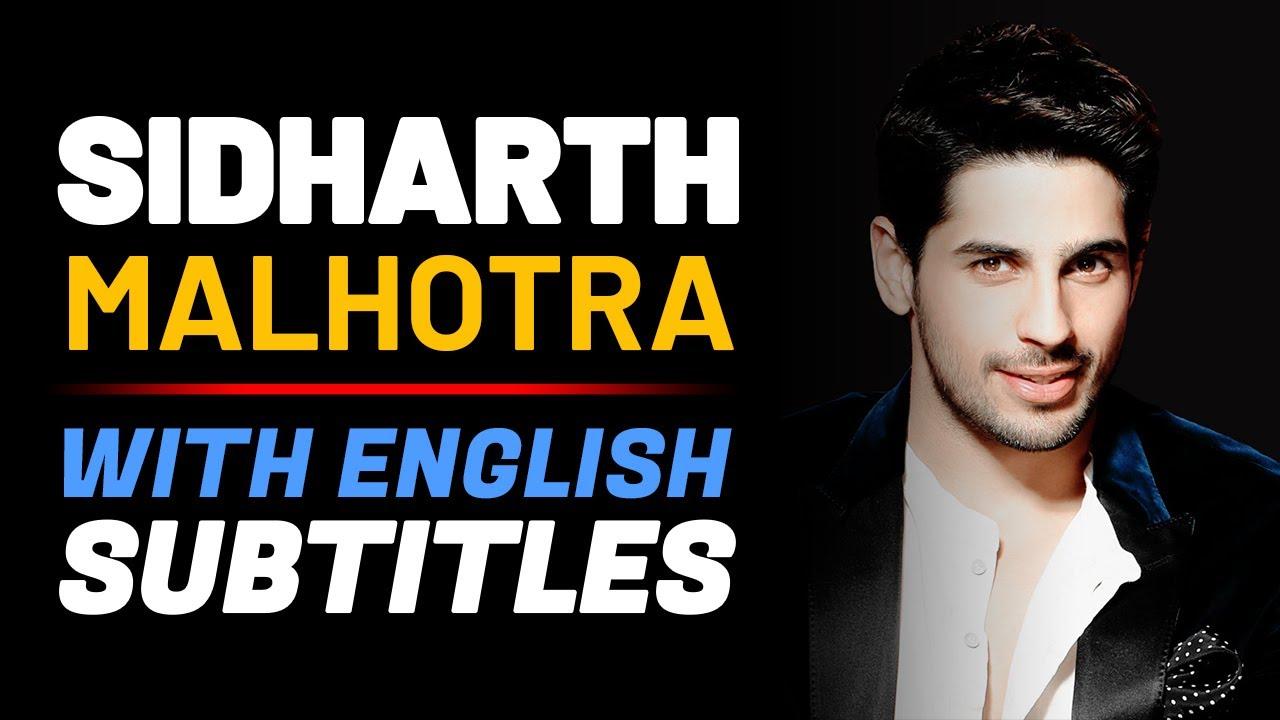 SIDHARTH MALHOTRA: Most Painful Jounrney | English Speech | English Speech with Subtitles