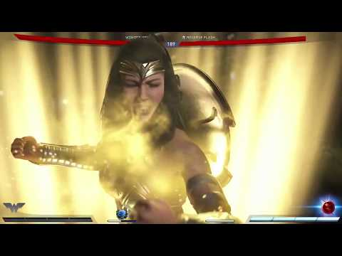 Injustice 2 Wonder Woman Activate Hippolyta Light Versus Reverse Flash
