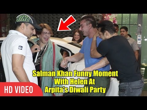 Salman And Sohail FUNNY Moment With Helen | Arpita's Grand Diwali Party
