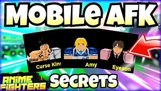 AFK For ANY Secret You Want On Mobile! F2P Secret Prices In Anime Fighters