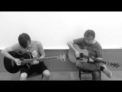 Uptown Funk-Acoustic Guitar/Bass Guitar Duo