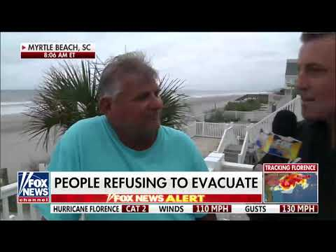 'If It's My Time to Go, I'll Go': Beachfront SC Resident Plans to Ride Out Hurricane Florence
