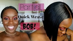 """QUICK WEAVE BOB CUT ON SHORT HAIR!