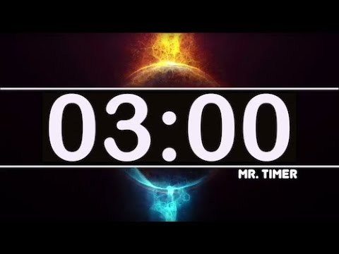 3 Minute Timer with Epic Music! Countdown Clock 3 Minutes, High